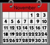 Календарь ноября