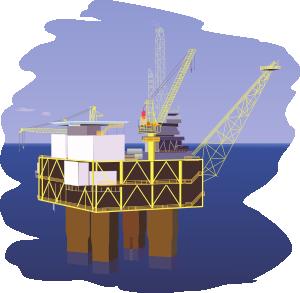 нефтяная вышка в море
