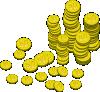 рассыпанные золотые монеты